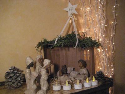 Joie et Lumière de Noël partagées avec nos 5 petits enfants. Ch Courouble